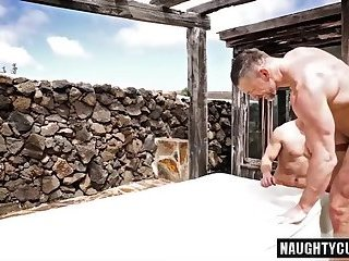 Anal,Hunks,Mature,Outdoors,Rimming,big dick,studs,daddy,old & young,gay Big dick daddy anal sex and cumshot