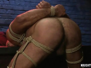 Anal,Fetish,gay,bdsm,bound,muscled Hot gay bound and anal cumshot