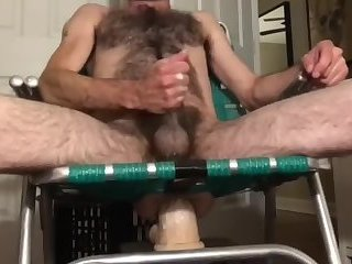 Amateur,Masturbation,Solo,Dildo,Object Insertion,hairy,gay Hirsute rocking chair ass blasting fun