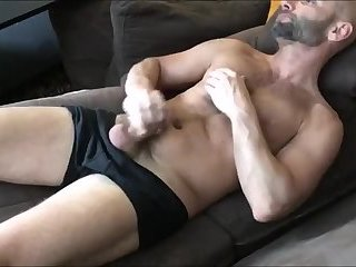 Amateur,Masturbation,Solo,bald,gay Sexy dilf gives his cock some attention