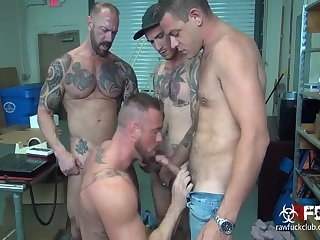 Anal,Tattoo,gay,sex,fuck,muslced Michael Romans bunch gangbang Part 1