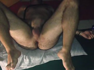 gay dirty slave self fuck hard and rough (transpounder)