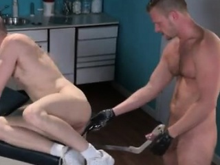 Fetish (Gay),Fisting (Gay),Gays (Gay),Twinks (Gay) Gay anal fist pounding Axel Abysse gets naked and lifts his