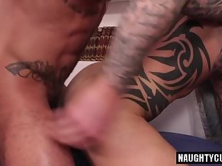 Anal,Fetish,Tattoo,Blowjob,gay,latin,muscled Latin gay flip flop and cumshot