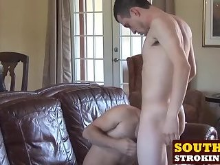 Big Cock,Bareback,hardcore,hunk,big dick,doggystyle,hard sex,raw,southernstroking,gay,Damien,Josh Hot Damien and sexy Josh hardcore fucking on the couch