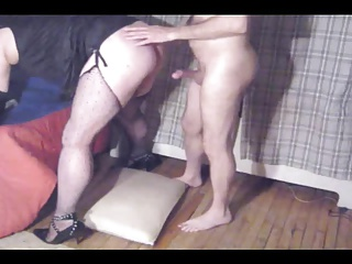 Crossdressers (Gay);Clips4Sale;Sissy in Chastity Sissy BJ & Anal in Lingerie SAMPLE