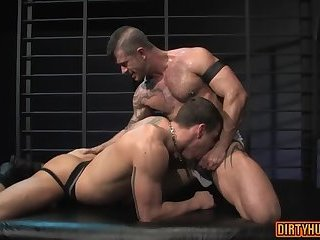 Anal,Hunks,Rimming,Tattoo,gay,muscle, flip flop Muscle gay flip flop and anal cumshot