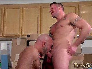 Anal,Hunks,Mature,gay,hardcore,muscled,bald Muscled men fuck