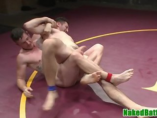 Anal,Handjob,ass,hardcore,wrestling,muscled,fight,gay Assfucked stud dominated during wrestling