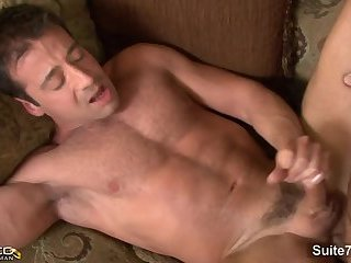 Anal,Cumshot,Hunks,Rimming,gay brunette Married lad receives fucked By A homosexual