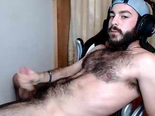 Amateur,Masturbation,Solo,hairy,gay Nice and hairy young guy cums hard
