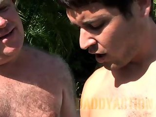Anal,Outdoors,ass,fuck,hairy,gay A young guy With A hairy daddy guy