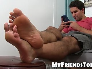 Solo,Feet,Fetish,foot fetish,hairy,kinky,worship, toes,MyFriendsToes,gay He loves cock teasing with his feet while on his phone