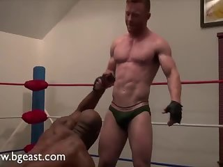 Domination,Fetish,muscle,wrestling,gay Karisma & Brown Two