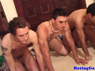 College amateurs humiliated by dominant jock