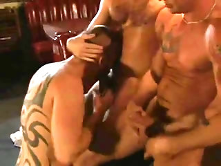 Anal,Mature,Tattoo,Threesome,gay Tatted Daddies threesome hammer