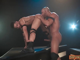 Anal,Hunks,Rimming,gay,hardcore,muscle,bald Muscle gay anal with anal cumshot