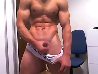 Amateur,Masturbation,Solo,Hunks,muscle,gay Lets get some muscle up in this bitch