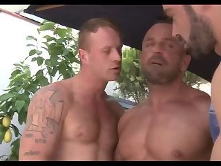 Anal,Cumshot,Hunks,ass,group sex,fuck,muscle,gay Ginger dude & His Muscle Buddies