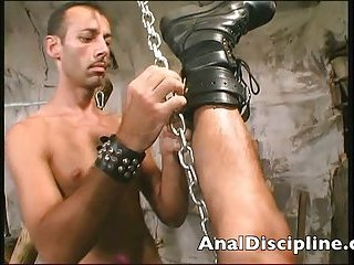 Horny guy Slams his slave tight ass