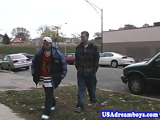 Gay american cums after fucking asian asshole