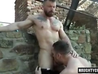 Anal,Cumshot,Hunks,Outdoors,Blowjob,Bareback,gay,muscled, flip flop Horny Russian gays flip flop