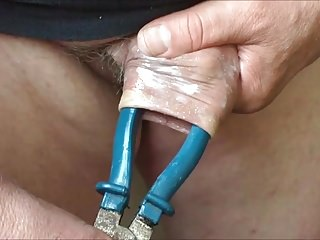 Amateur (Gay);Sex Toys (Gay) Large pliers with foreskin - 4 videos