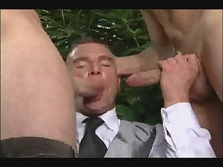 Anal,Cumshot,Outdoors,Threesome,gay,group sex,fuck Double anus