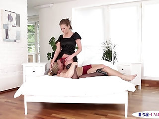 Anal,Cumshot,Bisexual,Fetish,Blowjob,gay Bisexual stud gets queened by busty beauty