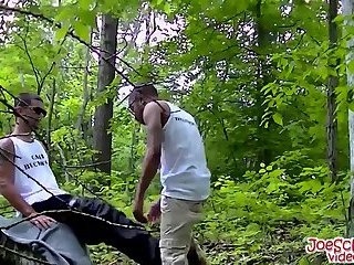 gay Hot partners love to fuck each other hard while in the woods
