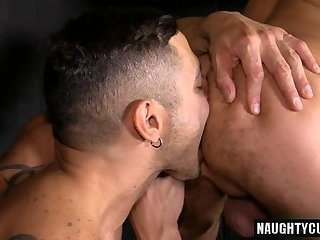 Anal,Tattoo,gay,ass,hardcore,fuck,latin,muscled Latin gay anal sex with cumshot