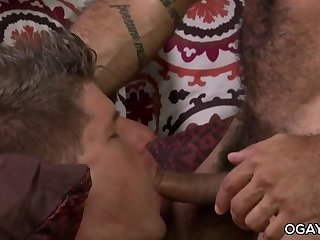 Interracial,Mature,anal sex,hardcore,big dick,latino,hairy,gay,Alessio Romero,Peter Fields Daddy dominates a younger guy