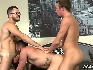 Interracial,Threesome,anal sex,hardcore,latino,hairy,gay Muscular neighbours fuck each other