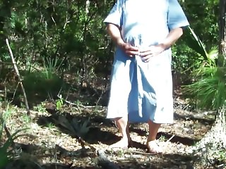 Men (Gay);Crossdressers (Gay);HD Gays Pee on blue dress in maritime forest 1 - Video 160.mp4