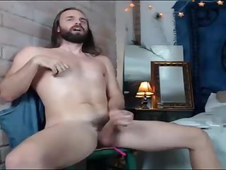 Amateur,Masturbation,Solo,beard, long hair,gay Long haired stoner type with an ohmibod up his ass