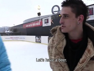 Blowjob (Gay),Gays (Gay),Men (Gay),Outdoor (Gay) Finally winter has come to the Czech Republic. I was