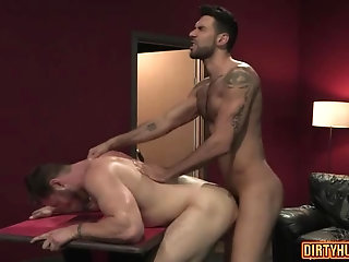 Anal,Hunks,Rimming,Threesome,bear,muscle,gay Muscle bear anal sex and facial cum