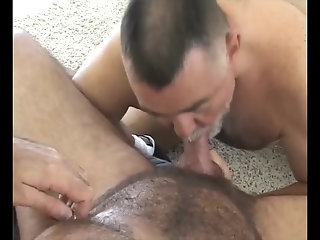 Anal,Cumshot,Bears,Mature,Rimming,hairy,gay Two older Bears bang