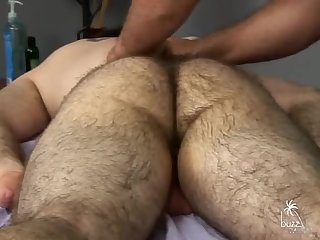 Handjob,Massage,hairy,gay bushy Bear Body And Genital Massage 2