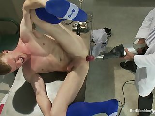 Medical,Uniform,gay,ass,fuck,toys plowed By A Machine