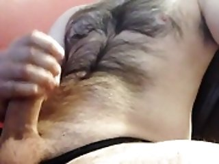 Amateur (Gay);Big Cocks (Gay);Hunks (Gay);Masturbation (Gay);Men (Gay) Str8 the hairy daddy cumming in his girls panties