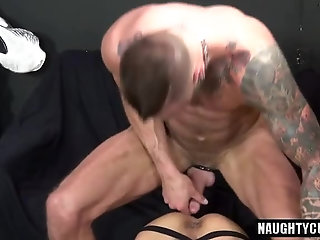 Anal,Handjob,Tattoo,hardcore,muscles,old & young,gay Tattoo jock cock suck with cumshot