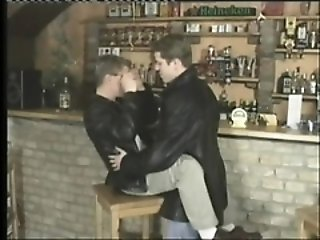 Blowjob (Gay),Gays (Gay),Handjob (Gay),Hunks (Gay) Two passionate guys provide to each other amazing blowjobs in the bar