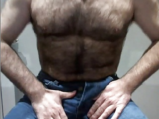 Bears (Gay);Big Cocks (Gay);Daddies (Gay);Gay Porn (Gay);Men (Gay);Teasing His Cock;Blue Jeans;In Blue;Cock Teasing;Blue;Jeans;Teasing HAIRY CUB TEASING HIS COCK IN BLUE JEANS