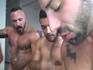 Anal,Hunks,Tattoo,gay,ass,hardcore,group sex,fuck,muscled The cheerful Birthday Seven