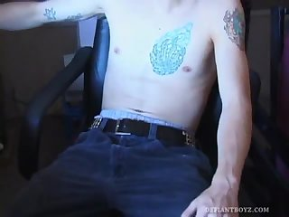 amateur,masturbation,tattoo,jerking,wanking, tattoos,homemade solo,amateur solo,gay Twink Amateurs Xander and Lewis Sucking