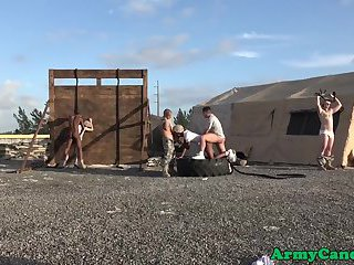 anal,interracial,outdoors,oral,outdoor,anal sex,black,interracial sex,gay Interracial soldiers assfucking outdoors