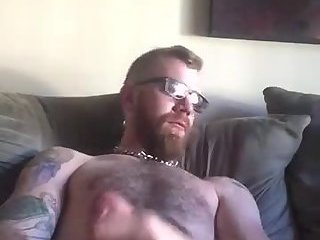 Amateur,Masturbation,Solo,Tattoo,gay Inked up otter