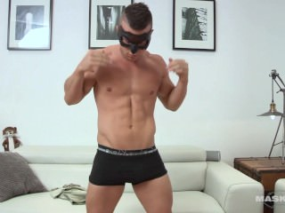 maskurbate;hunk;jock;muscles;showing-off;stripping;masturbation;big-dick;solo;solo-male;striptease,Muscle;Gay;Straight Guys Maskurbate Hidden Identity Masked Hunk