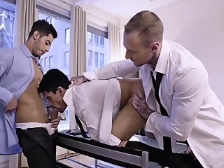 Anal,Hunks,Tattoo,Threesome,gay Yust another Day At The Office